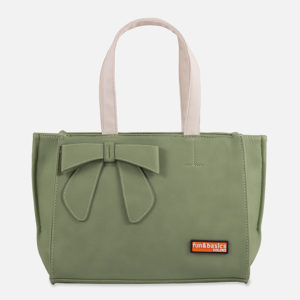 SIMIL PIEL, SHOPPER  VERDE
