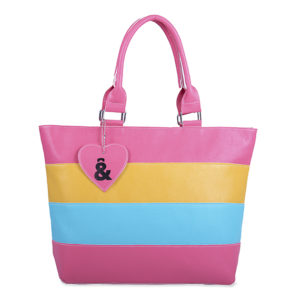 SIMIL PIEL, BOLSO SHOPPER tricolor