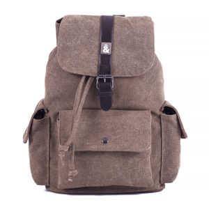 CANVAS, MOCHILA MARRON