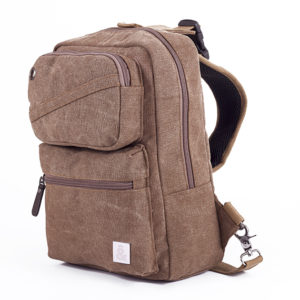 CANVAS MOCHILA MARRON