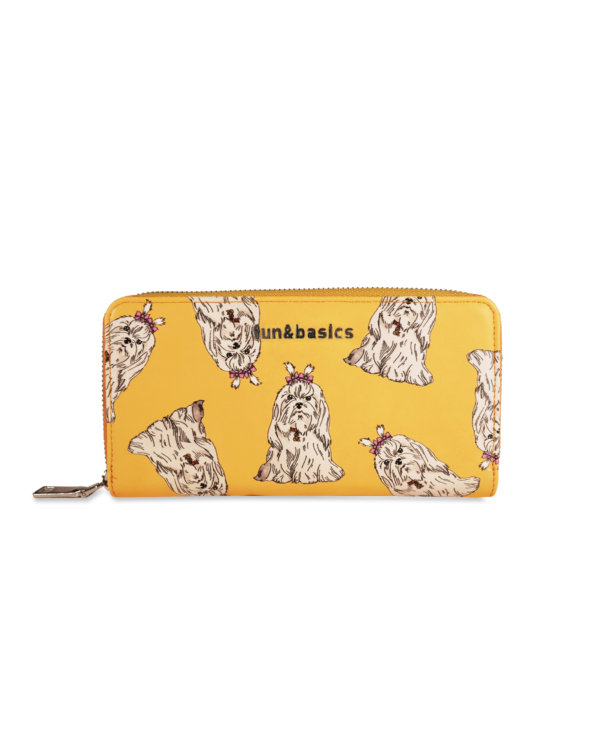 Billetero perro amarillo