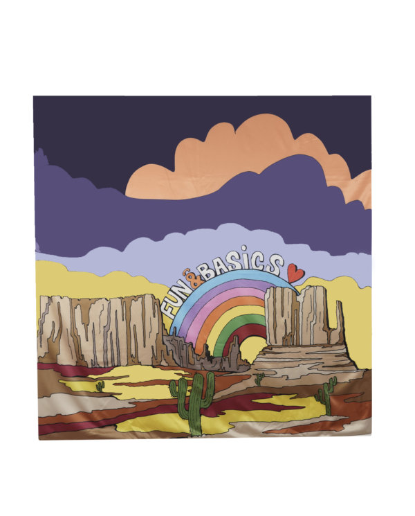 Pañuelo desierto multicolor