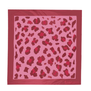 Pañuelo satín leopardo rosa