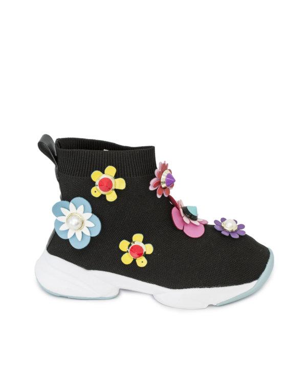 Botín calcetín flores