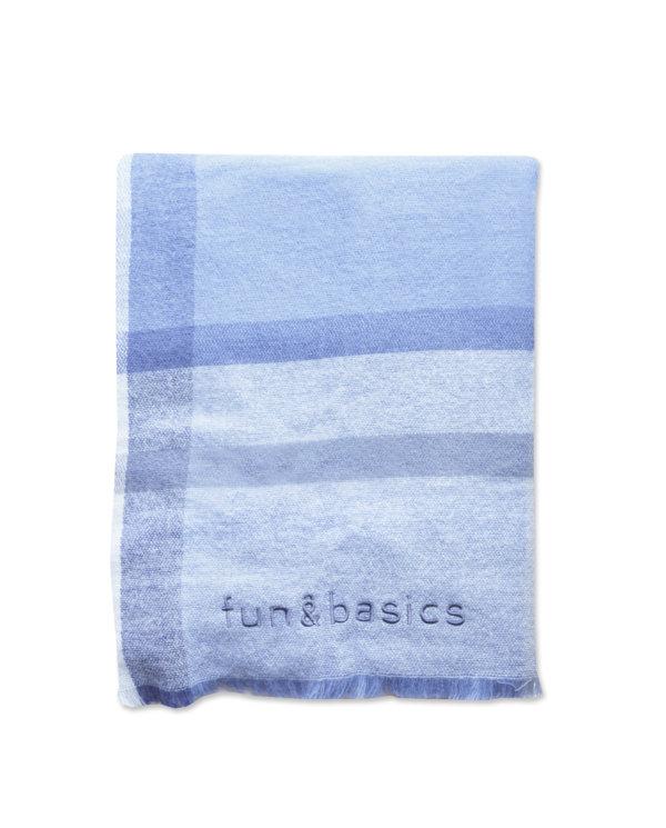 Bufanda manta cuadros azules