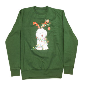 Sudadera Navidad verde