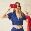 Cartera mujer FUN & BASICS nylon rojo