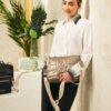 Bolso bandolera Fun & Basics piel sintética plata