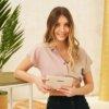Cartera mujer FUN & BASICS piel sintética beige