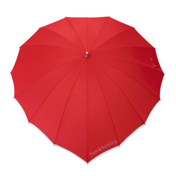 Paraguas Fun & Basics con forma de corazón